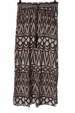 H&M Maxi Skirt brown-natural white allover print casual look
