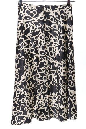 H&M Maxirock schwarz-weiß Schriftzug gedruckt Casual-Look