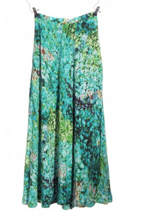 H&M Maxi rok turkoois-groen abstract patroon casual uitstraling