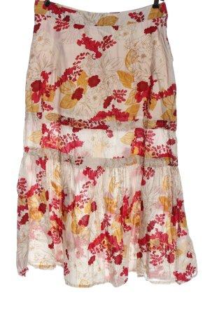 H&M Flounce Skirt allover print casual look
