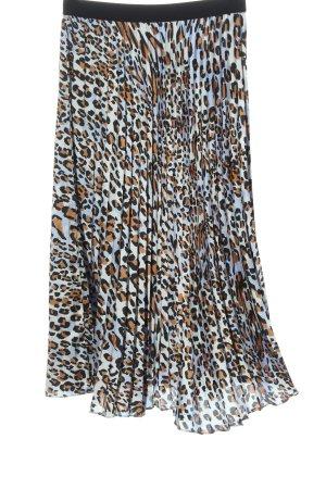 H&M Falda larga azul-marrón estampado repetido sobre toda la superficie