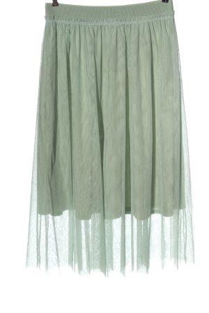 H&M Tiulowa spódnica zielony Elegancki