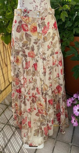 H&M Maxi Skirt multicolored polyester