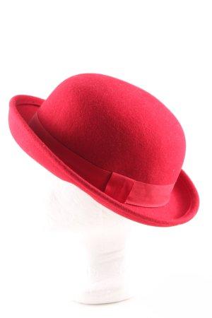 H&M Chapeau melon rouge style d'affaires