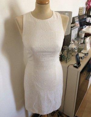 H&M Falda estilo lápiz blanco