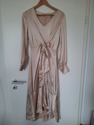 H&M Midi Kleid metallic Gold Gr.36
