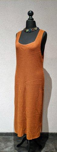 H&M Midi Kleid Rippenstrick Braun Karamell 5% Wolle Größe XL