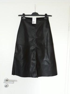 H&M Midi Rock Faux Leather Gr.36