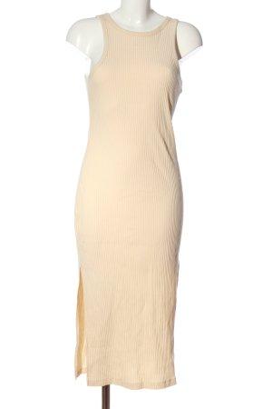 H&M Midikleid creme Casual-Look