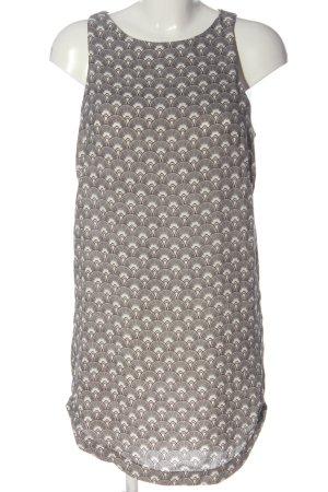 H&M Blusenkleid schwarz-weiß Allover-Druck Casual-Look