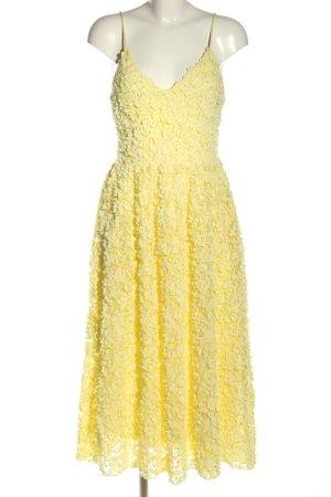 H&M Midikleid blassgelb Elegant