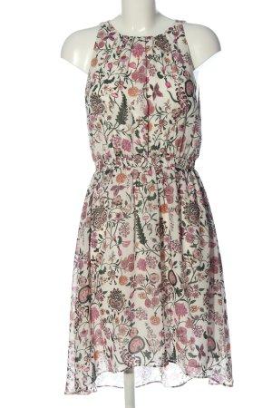 H&M Robe chiffon blanc cassé-rose imprimé allover style décontracté