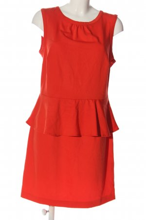 H&M Peplum Dress red casual look