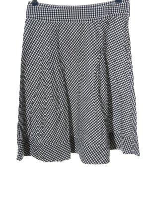 H&M Glockenrock schwarz-weiß Allover-Druck Casual-Look