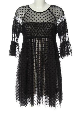 H&M Chiffonkleid schwarz Punktemuster Elegant