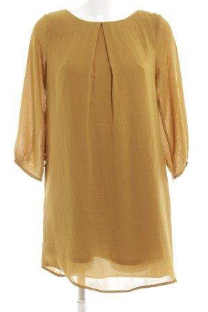 H&M Midikleid goldfarben Elegant