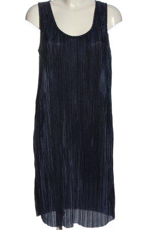 H&M Midikleid blau Streifenmuster Casual-Look