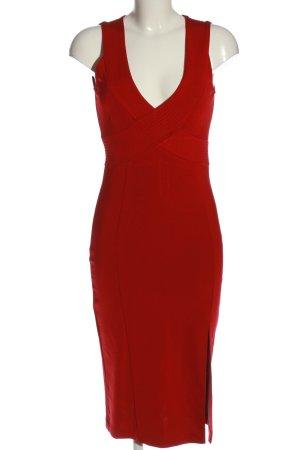 H&M Midikleid rot Elegant