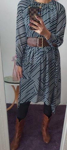 H&M Robe mi-longue blanc-bleu