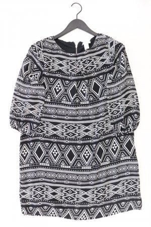 H&M Midikleid Größe 42 3/4 Ärmel schwarz aus Polyester