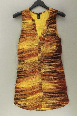 H&M Midikleid Größe S Ärmellos gelb aus Viskose