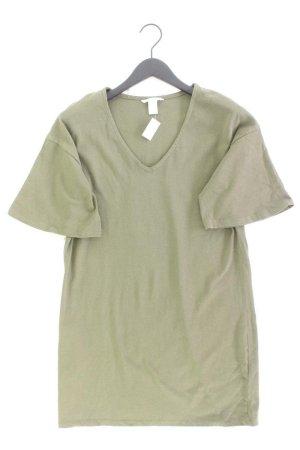 H&M Midikleid Größe S Weite Ärmel olivgrün aus Baumwolle