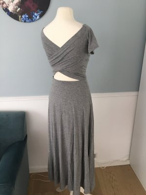 H&M Vestido cut out gris