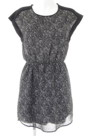 H&M Midikleid schwarz abstraktes Muster