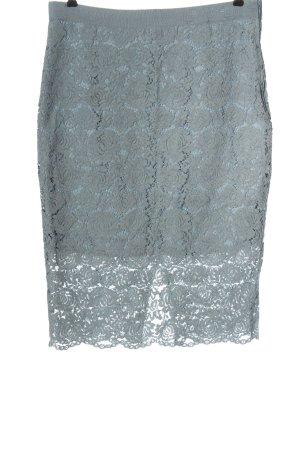 H&M Midirock blau grafisches Muster Casual-Look