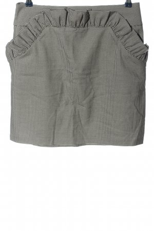 H&M Jupe mi-longue blanc-noir motif abstrait style décontracté