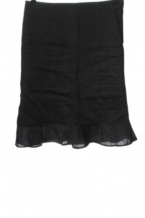 H&M High Waist Rock schwarz Casual-Look