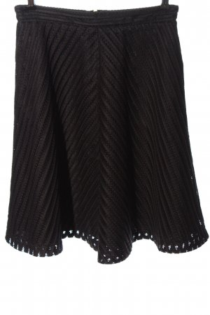 H&M High Waist Rock braun-schwarz Streifenmuster Casual-Look
