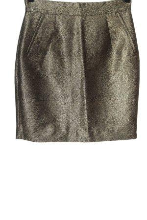 H&M Midirock goldfarben Elegant