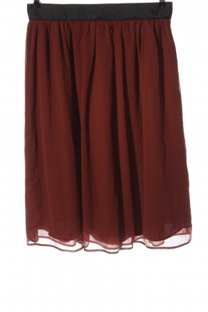H&M Midirock rot-braun Elegant