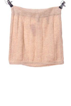H&M Gebreide rok nude gestippeld casual uitstraling