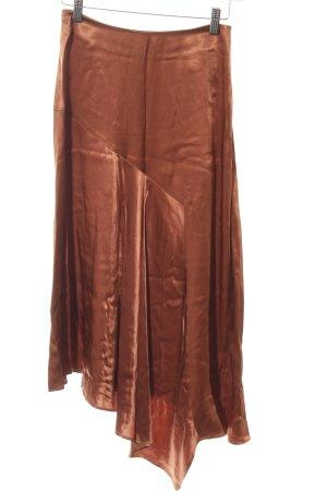 H&M Midirock bronzefarben extravaganter Stil