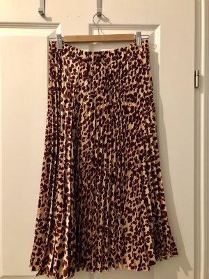 H&M Jupe plissée brun rouge-orange doré
