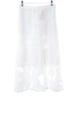 H&M Midirock weiß extravaganter Stil