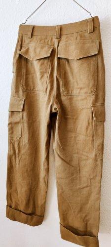 H&M Spodnie khaki piaskowy brąz