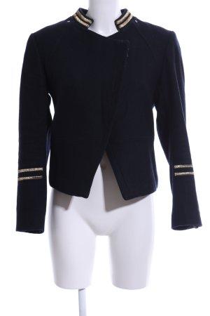 H&M Veste militaire bleu-doré motif rayé style décontracté