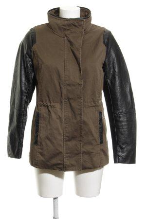 H&M Militaryjacke khaki-schwarz