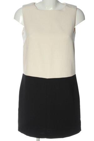 H&M Minikleid weiß-schwarz Elegant