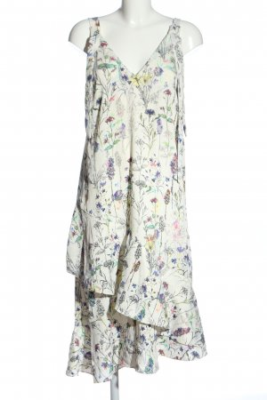 H&M Robe à volants motif abstrait style décontracté