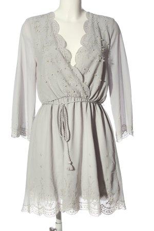 H&M Minikleid hellgrau Elegant