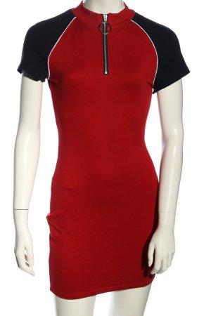 H&M Minikleid rot-schwarz Casual-Look