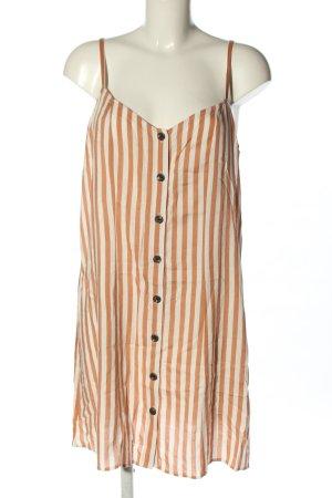 H&M Minikleid wollweiß-braun Streifenmuster Casual-Look
