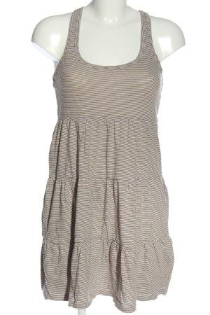 H&M Minikleid braun-weiß Allover-Druck Casual-Look
