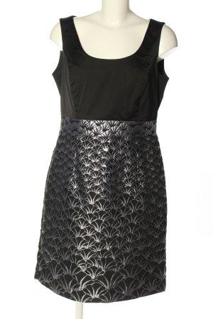 H&M Minikleid schwarz-hellgrau abstraktes Muster Casual-Look
