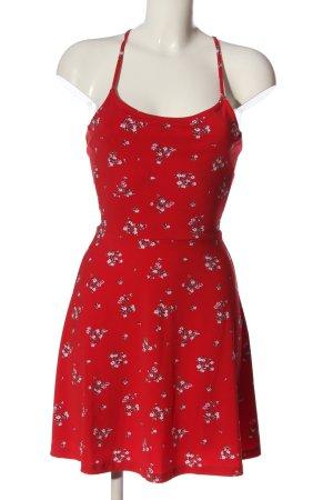 H&M Minikleid rot Allover-Druck Elegant