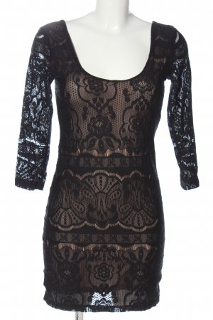 H&M Minikleid schwarz-creme Elegant